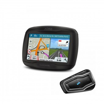 GPS-Navigatori Garmin Zumo 395 Travel Edition et Scala Rider Freecom 2