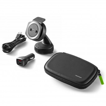 Accessori GPS TomTom Kit Supporto Auto con Caricatore e Custodia Rider 40 - Ride