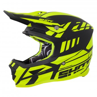 Casque Cross SHOT Furious Riot Neon Yellow Matt