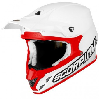 Casque Cross Scorpion VX-20 Air Bianco Rosso
