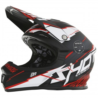 Casque Cross SHOT Furious Infinity Red Matt