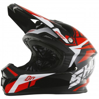 Casque Cross SHOT Furious Squad Red