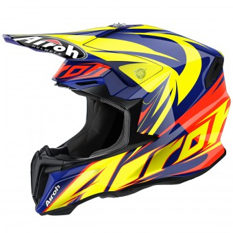 Casque Cross Airoh Twist Evil Blue