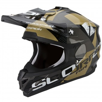 Casque Cross Scorpion VX-15 Evo Air Akra Grey Black