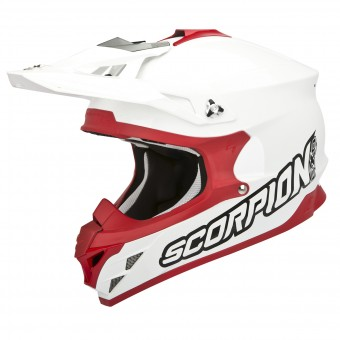 Casque Cross Scorpion VX-15 Evo Air Blanco Rosso