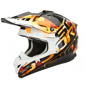 Casque Cross Scorpion VX-15 Evo Air Grid Nero Arancione