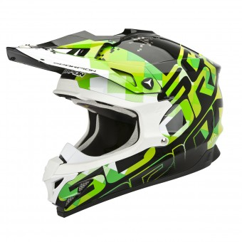 Casque Cross Scorpion VX-15 Evo Air Grid Nero Verde