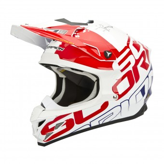 Casque Cross Scorpion VX-15 Evo Air Grid Rosso Blu