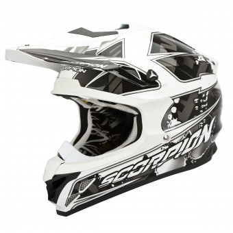 Casque Cross Scorpion VX-15 Evo Air Magma Nero Blanco
