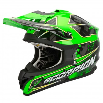 Casque Cross Scorpion VX-15 Evo Air Magma Verde Fluo