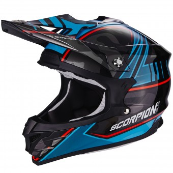 Casque Cross Scorpion VX-15 Evo Air Miramar Black Blue