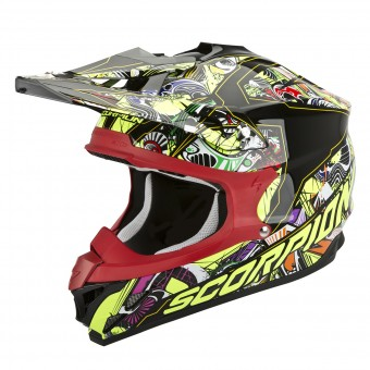 Casque Cross Scorpion VX-15 Evo Air Vector Nero