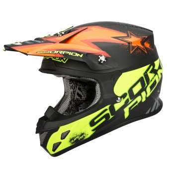 Casque Cross Scorpion VX-20 Air Magnus Orange Giallo Fluo