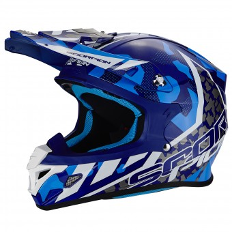 Casque Cross Scorpion VX-21 Air Furio Blue White