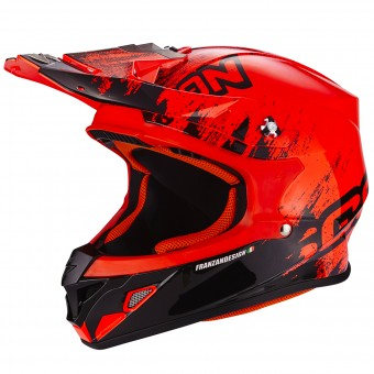 Casque Cross Scorpion VX-21 Air Mudirt Black Neon Red