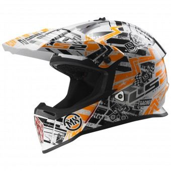 Casque Bambini LS2 Fast Mini Glitch Orange MX437J