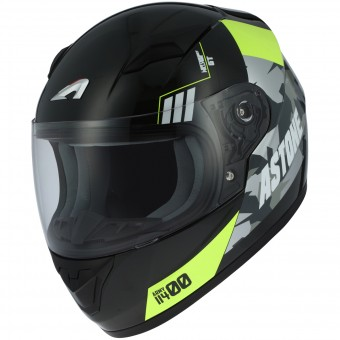 Casque Bambini Astone GT2 Kids Army Black Yellow