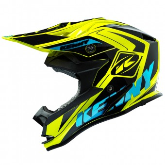 Casque Bambini Kenny Performance Yellow Fluo Cyan Kid