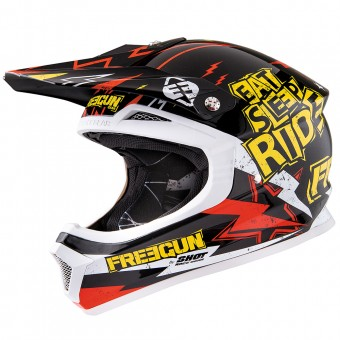Casque Bambini Freegun XP-4 Cause Yellow Red Bambino