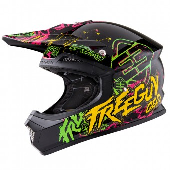 Casque Bambini Freegun XP-4 Overload Green Orange Bambino