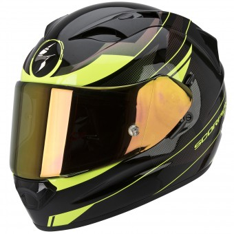 Casque Integrale Scorpion Exo 1200 Air Fulmen Black Neon Fluo