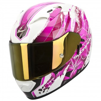 Casque Integrale Scorpion EXO 1200 Air Lilium Bianco Rosa