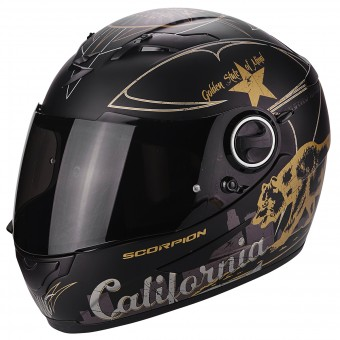 Casque Integrale Scorpion Exo 490 Golden State Black Gold