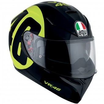 Casque Integrale AGV K3 SV Top Bollo 46 Black Yellow