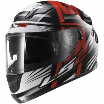Casque Integrale LS2 Stream Bang Black Red FF320