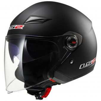 Casque Jet LS2 Track Matt Black OF569