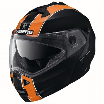 Casque Modulare Apribile Caberg Duke Legend Opaco Black Arancione