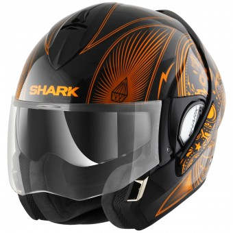 Casque Modulare Apribile Shark Evoline Serie 3 Mezcal Chrome KUO