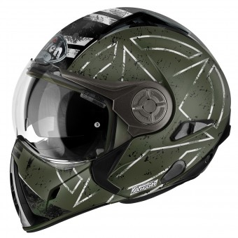 Casque Modulare Crossover Airoh J106 Command Green Mat