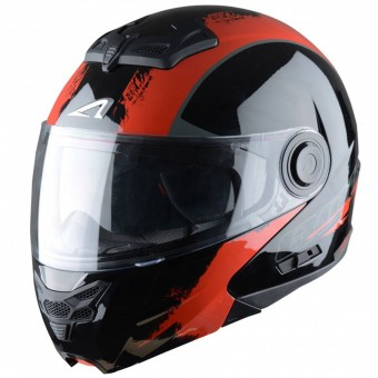 Casque Modulare Apribile Astone RT 800 Venom Black Red