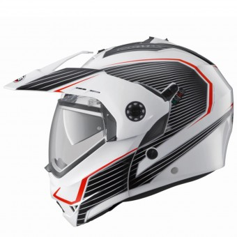 Casque Modulare Apribile Caberg Tourmax Sonic White Black