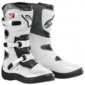 Stivali Cross Alpinestars Tech 3 S White Black Bambino