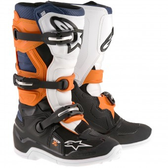 Stivali Cross Alpinestars TECH 7 S Black Orange Blue Bambino