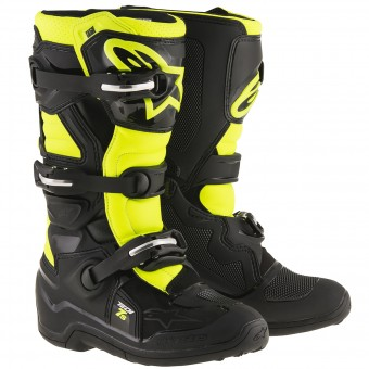 Stivali Cross Alpinestars TECH 7 S Black Yellow Fluo Bambino