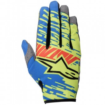 Guanti Cross Alpinestars Racer Braap Blue Red