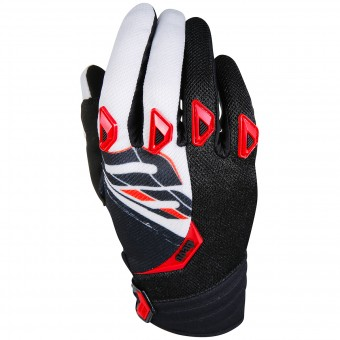 Guanti Cross SHOT Devo Fast Red Black Bambino