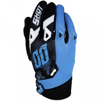 Guanti Cross SHOT Devo Squad Blue Black