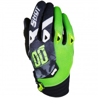 Guanti Cross SHOT Devo Squad Green Black