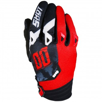 Guanti Cross SHOT Devo Squad Red Black