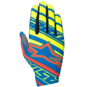 Guanti Cross Alpinestars Dune Blue Red