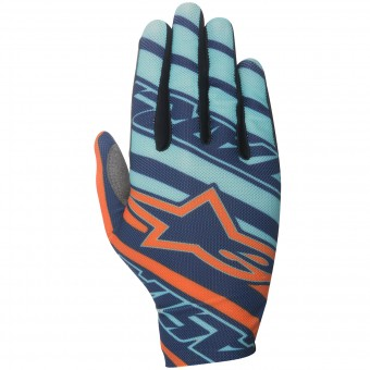 Guanti Cross Alpinestars Dune Turquoise Orange