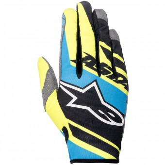 Guanti Cross Alpinestars Racer Supermatic Black Blue Yellow Bambino