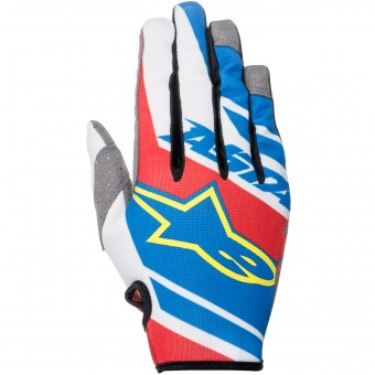 Guanti Cross Alpinestars Racer Supermatic Blue Red White Bambino