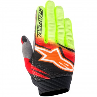 Guanti Cross Alpinestars Techstar Venom Red Yellow Fluo