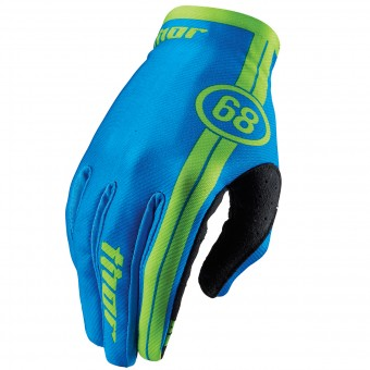 Guanti Cross Thor Void Course Blue Bambino