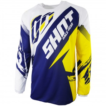 Maglia Cross SHOT Contact Fast Blue Yellow
